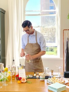Spring workshops at twig & vine florals with our own mixologist