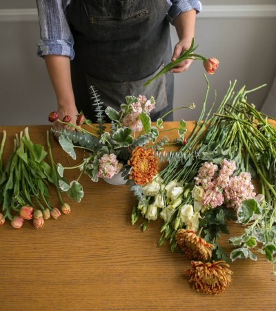 Twig & Vine Florals fall centerpiece workshop